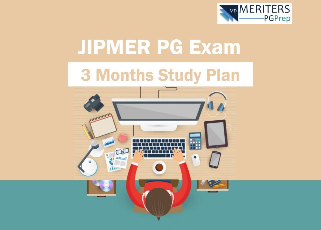 JIPMER PG Study Plan - 3 Months