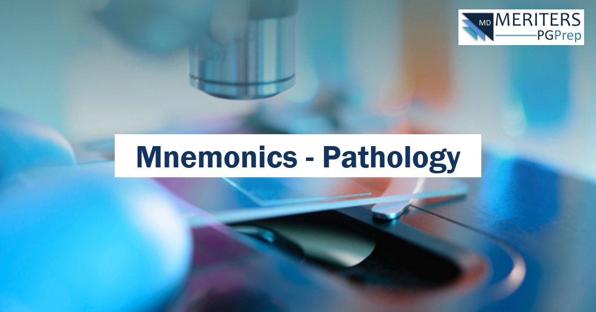 NEET PG - Pathology Mnemonics